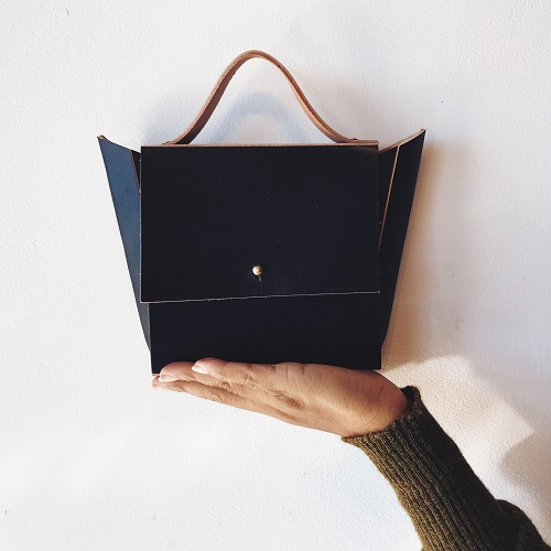 freshly-given-structured-mini-eared-bag-Vantablack